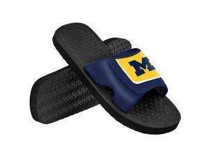 Michigan NCAA Mens Shower Slide Flip Flops Medium