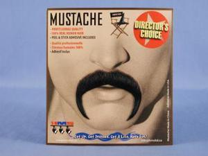 Mexican Amigo Black Real Human Hair Adult Costume Moustache