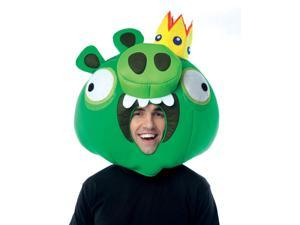 Angry Birds Green King Pig Over The Head Foam Costume Mask