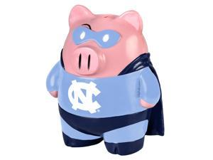 "NCAA 8"" Team Superhero Piggy Bank: North Carolina Tar Heels"