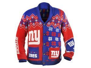 New York Giants NFL Adult Ugly Cardigan Sweater Medium