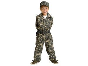 Jr. Camouflage Uniform Costume Child Toddler Child 8/10
