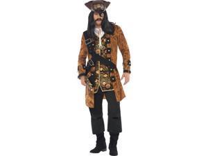 Steampunk Pirate Adult Costume Medium
