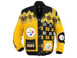 Pittsburgh Steelers NFL Adult Ugly Cardigan Sweater Medium