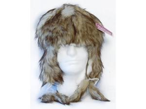 Arctic Fur Costume Hat Black/Tan
