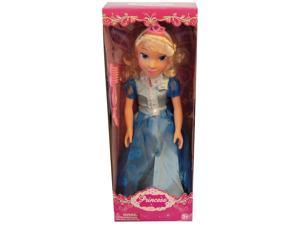 "19"" Princess Doll In Two Tone Blue Dress (Cinderella Like)"