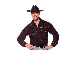 Classic Cowboy Black Costume Shirt Adult XX-Large