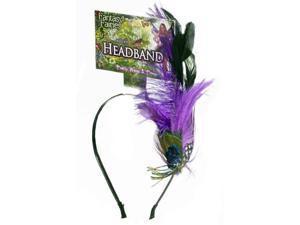 Spring Fairy Peacock Feather Headband Costume Accessory