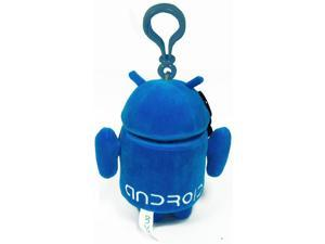 """Android 3.5"""" Plush Backpack Clip On: Blue"""