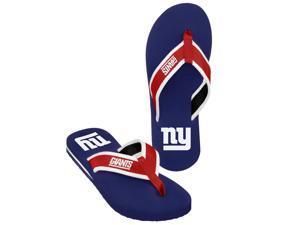 New York Giants NFL Mens Team Color Contour Flip Flops X-Large (12-13)