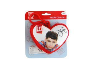 1D One Direction Plush Heart Backpack Clip On: Zayn