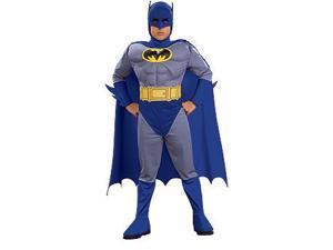 Batman Brave & Bold Deluxe Muscle Chest Batman Costume Toddler Large