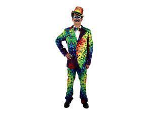 Pixel 8-Bit Rainbow Pixel Adult Costume Pants Small/Medium