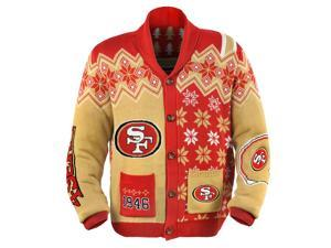 San Francisco 49Ers NFL Adult Ugly Cardigan Sweater XX-Large