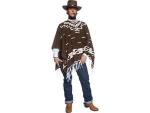 Western Cowboy Poncho Adult Costume Medium