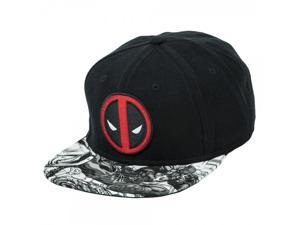 Baseball Cap - Marvel - Deadpool Logo Sublimated Bill Snapback sb1vvfmvu