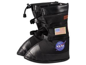 Jr. Astronaut Space Boots Costume Shoe Covers Child: Black Large