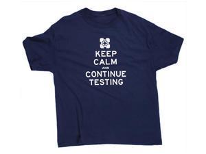 Portal 2 Keep Calm Premium Navy Adult T-Shirt Small
