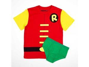 DC Comics Robin Boy's Shirt/Underwear Underoos Set Medium 8