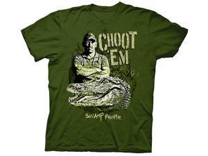 Swamp People Choot Em Troy And Gator Green Adult T-Shirt Medium