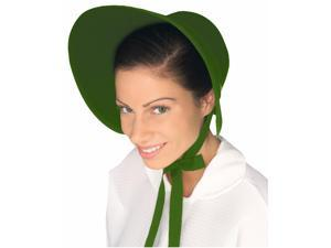 Colonial Felt Bonnet Costume Hat Adult: Green One Size