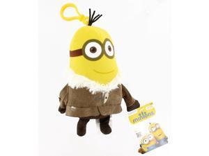 "Minion Movie 5"" Clip On Plush: Tall Winter Minion (2 Eyes)"
