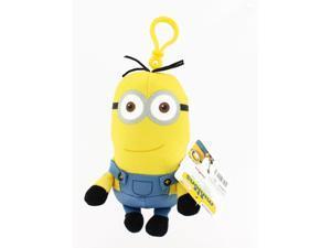 "Minion Movie 5"" Clip On Plush: Tall Standard Minion (2 Eyes)"