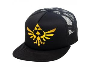 The Legend of Zelda Triforce Logo Foil Print Black Snapback Hat