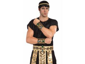 Deluxe Pair Male Egyptian Costume Wrist Cuffs Adult One Size