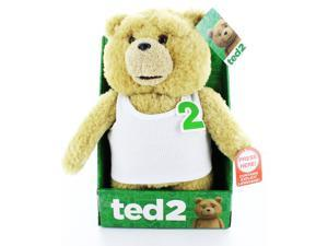 """Ted 2 11"""" Talking Plush Ted In Undershirt (Rated R)"""