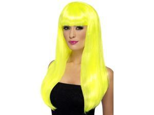 Babelicious Long Costume Wig Adult: Neon Yellow One Size