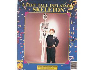 "Inflatable Skeleton 72"" Costume Halloween Prop"