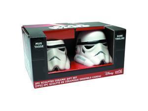 Star Wars Stormtrooper Sculpted Ceramic Mugs: Set of 2