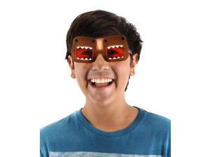 Domo Costume Glasses Brown Adult One Size