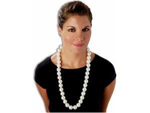 Jumbo White Pearls Costume Necklace