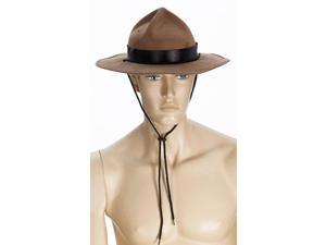 Brown Mountie Adult Costume Hat