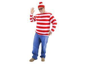 Where's Waldo Adult Plus Costume XXL