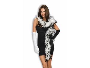 Black & White Feather Costume Accessory Boa