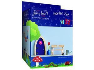 Irish Fairy Door 4-Piece Garden Accessory Set