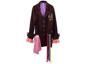 Alice Through the Looking Glass Mad Hatter Tea Party Replica Men's L/XL Jacket