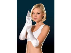 Sexy White Luna Opera Length Costume Gloves Adult One Size One Size Fits Most