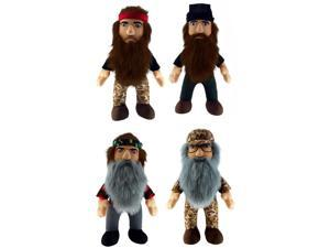 """Duck Dynasty 13"""" Plush With Sound Set Of 4"""