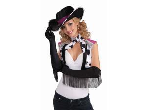 Sexy Flapper Fringed Gloves Costume Accessory - Black