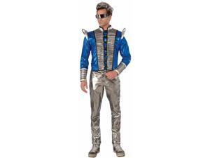 Men's Futuristic Silver & Blue Costume Jacket Standard
