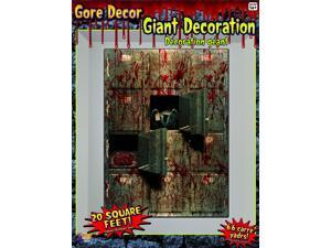 20 Square Ft Morgue Wall Backdrop Halloween Party Decoration One Size