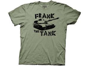 Old School Frank The Tank Green Adult T-Shirt Small