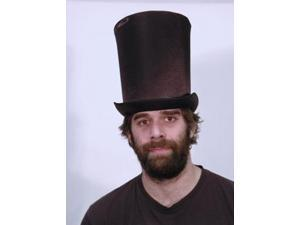 """Satin 9"""" Victorian Coachman Costume Top Hat Adult: Black One Size"""
