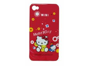 For iPhone 4 Cover Hello Kitty Red Mini W/ Teddy Bear Yellow
