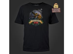 DOTA 2 Techies KaBOOM! Men's Black Tee Small with Digital Unlock Code