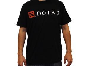 DOTA 2 Logo Men's Black T-Shirt: Large